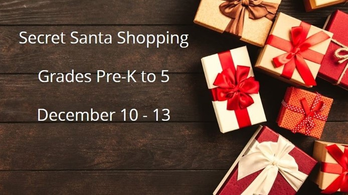 Secret Santa Shopping - Dec 10 to 13