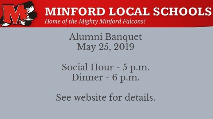 Alumni Banquet - May 25