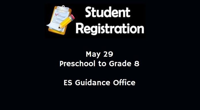Student Registration - May 29